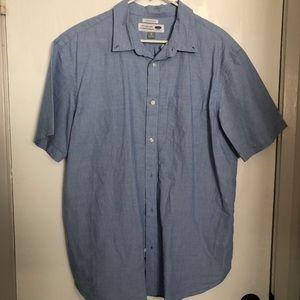 Mens light blue button up shirt